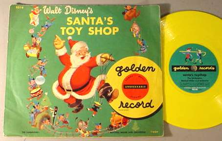 WALT DISNEY SANTA'S TOY SHOP 78 RPM & SLEEVE