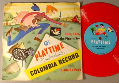 TOM TOM PIPER'S SON 78 RPM PLAYTIME RECORD & SLEEVE