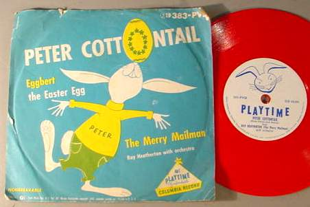 PETER COTTONTAIL PLAYTIME 383PVD 78 RPM RECORD & SLEEVE