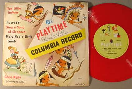 GENE KELLY PLAYTIME 342-PV 78 RPM RECORD & SLEEVE