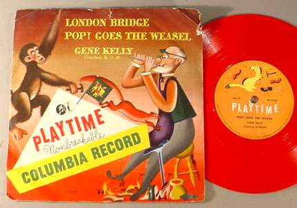 GENE KELLY PLAYTIME 340-PV 78 RPM RECORD & SLEEVE