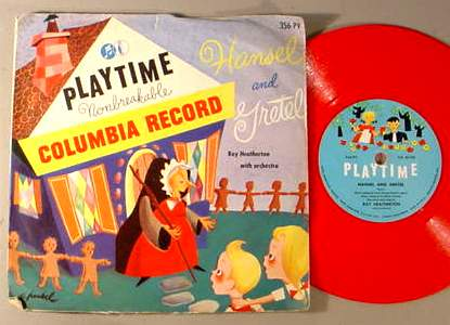 HANSEL & GRETEL PLAYTIME 356-PV 78 RPM RECORD & SLEEVE