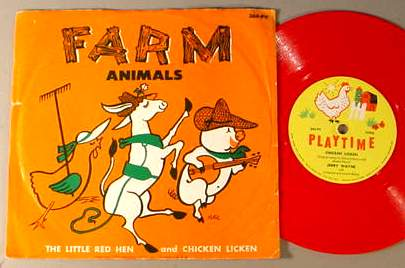 FARM ANIMALS PLAYTIME 364-PV 78 RPM RECORD & SLEEVE