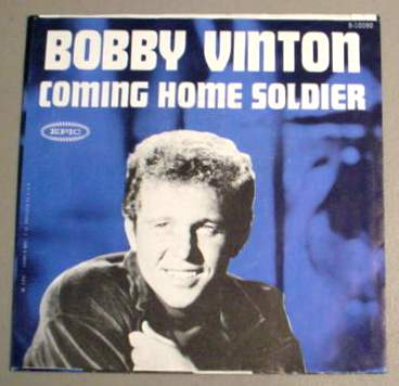BOBBY VINTON 45 RPM SLEEVE ONLY - Coming Home Soldier