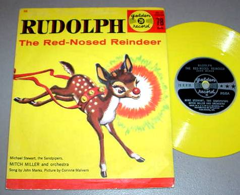 RUDOLPH RED-NOSED REINDEER 78 RPM & PS Golden Record 68