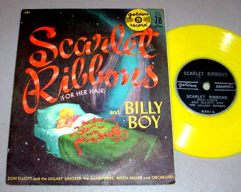 SCARLET RIBBONS & BILLY BOY 78 & PS Golden Records 581