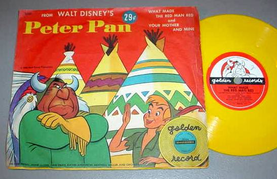 WALT DISNEY PETER PAN 78 RPM & PS - Golden Record RD37