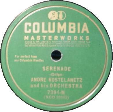 "ANDRE KOSTELANETZ 12"" 78 RPM - Serenade / Poeme"