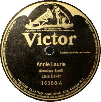 ELSIE BAKER 78 RPM - Annie Laurie / Ben Bolt
