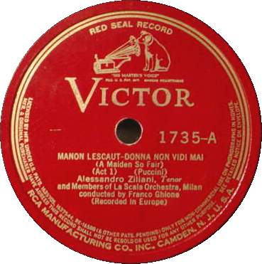 ALESSANDRO ZILIANI 78 RPM - Victor 1735