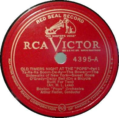BOSTON POPS ORCH. 78 RPM - Old Timers Night at the Pops
