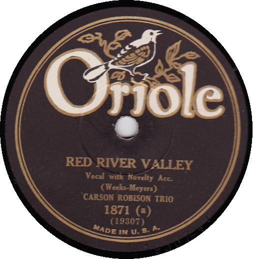 CARSON ROBISON TRIO 78 RPM - ORIOLE 1871 Red River Valley
