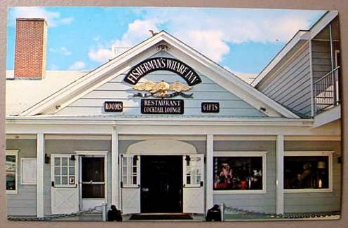 BOOTHBAY HARBOR POSTCARD - Fisherman's Wharf Inn