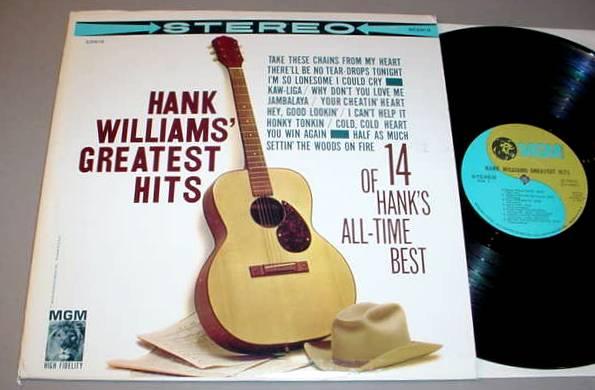 Hank Williams Lp Mgm Se3918 Greatest Hits 1960 Ebay