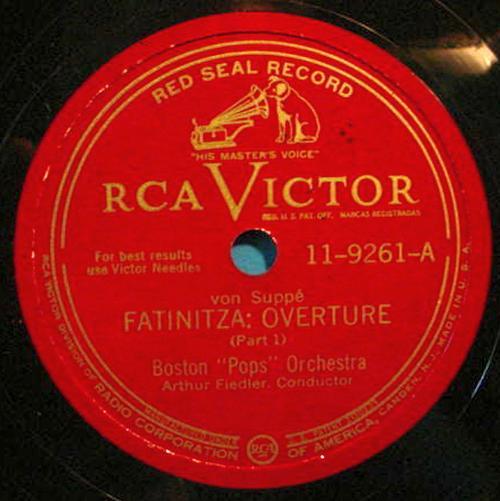 "ARTHUR FIEDLER 12"" 78 RPM Fantinitza Overture - RCA Victor 11-9261"