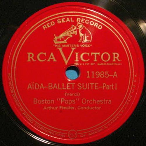 "ARTHUR FIEDLER 12"" 78 RPM Aida Ballet Suite - RCA Victor 11985"