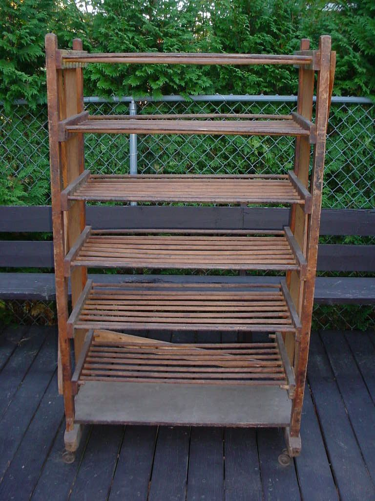 Wine rack antique wooden shoe factory rolling cart wr
